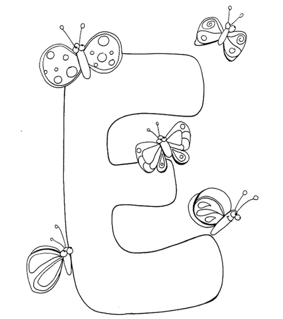 10 ticks calculator coloring book pages | Top 10 Free Printable Letter E Coloring Pages Online