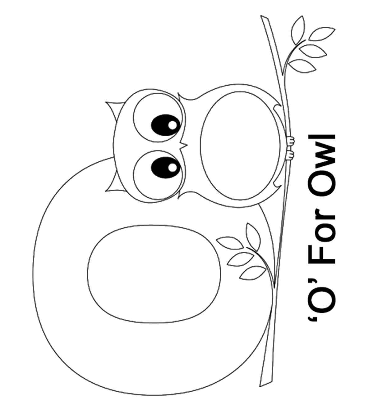 Top 10 Letter \'O\' Coloring Pages Your Toddler Will Love To ...