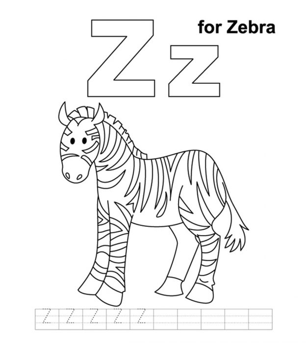 Top 10 Free Printable Letter Z Coloring Pages Onlinerhmomjunction: Coloring Pages For Letter Z At Baymontmadison.com