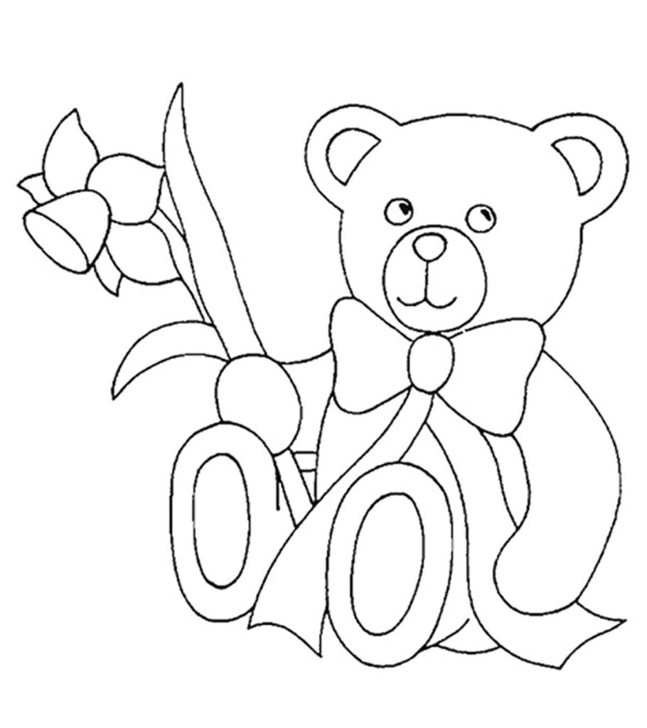 Top 10 Free Printable Teddy Bear Coloring Pages Online