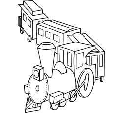 train turning on curve coloring pages