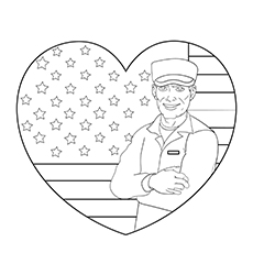 US Soldier Coloring Pages for Kids