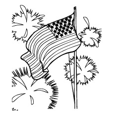 USA Independence Day Coloring Page to Print
