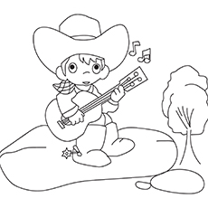 Your-Cowboy-Guitarist-16 coloring pages