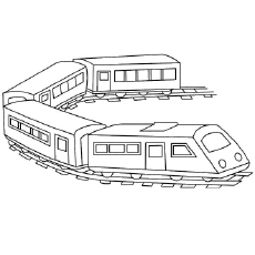 Zooming Passenger Train to Color