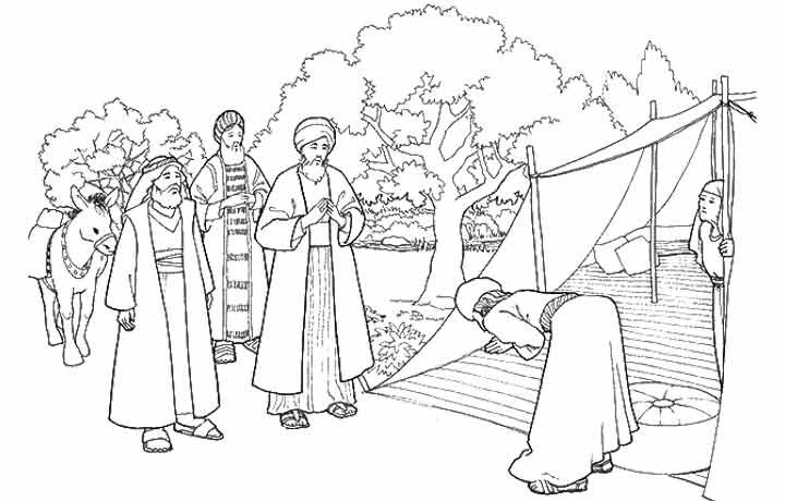 Abraham and Isaac coloring page  Free Printable Coloring