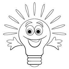 in emotion bulb that smiles coloring pages