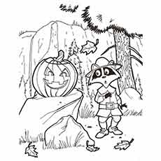 Free Printable Coloring Picture Of Fall Seasonal