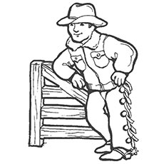 cowboy cool coloring pages for kids