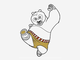 10 Cute Kung Fu Panda Coloring Pages For Your Little Ones