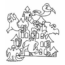 halloween coloring pages printable scary - Halloween House Coloring Pages