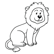 lion is sitting Coloring Pages