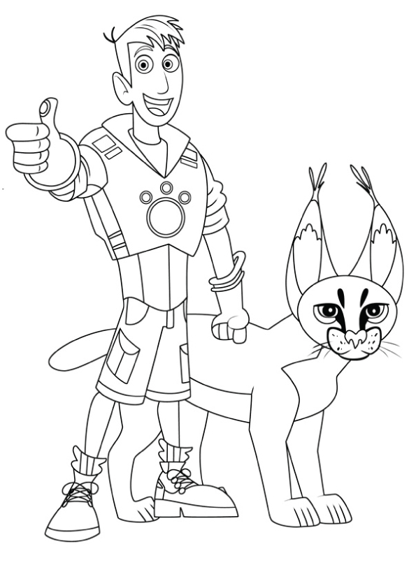 martin-and-cougar-coloring-pages
