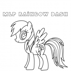 mlp rainbowdash coloring images