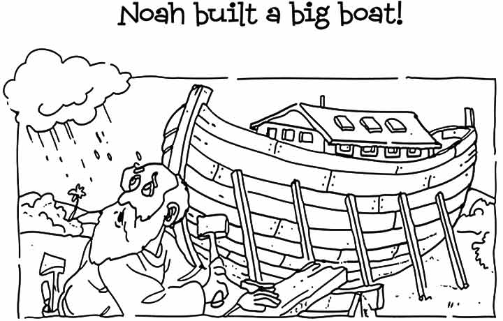 noah and the ark coloring pages noah built a big boat