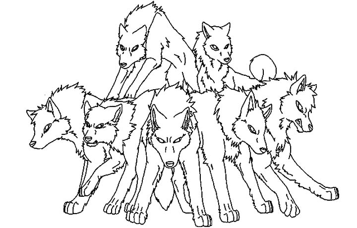 wolf pack coloring pages | Coloring Page