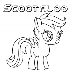 Scootaloo coloring images