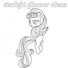 starlight glimmer eliana coloring pages