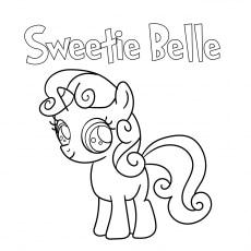 coloring sweetie belle