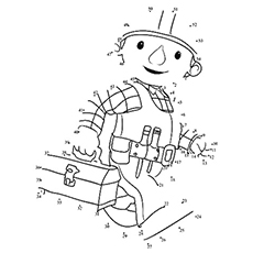 connect dot to dot bob the builder coloring page