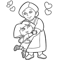 Top 10 free printable grandma coloring pages online the dora with grandma bookmarktalkfo Images