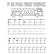 Coloring Pictures of F Stands for Fire Truck