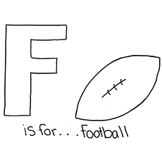F Letter Stands for for Football to Color