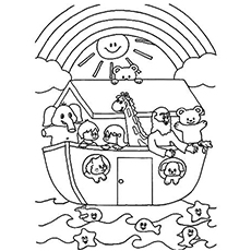 photo regarding Noah's Ark Printable titled Final 10 Noah And The Ark Coloring Webpages Your Baby Will