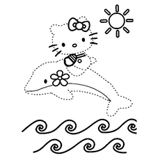 Hello Kitty Connect Dot To Dot Coloring Pages