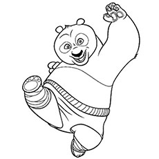 Top 10 Free Printable Kung Fu Panda Coloring Pages Online