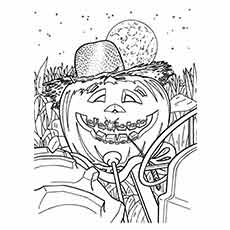 Gallery For Fall Pumpkin Coloring Page Printable Kids Autumn Season