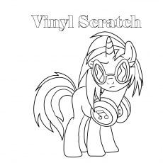 Vinyl Scratch coloring images