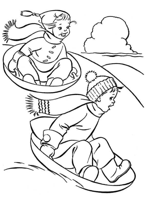 winter-coloring-page-having-fun-sled-dog