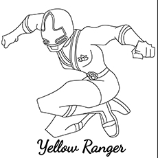 Yellow Ranger Set For Action
