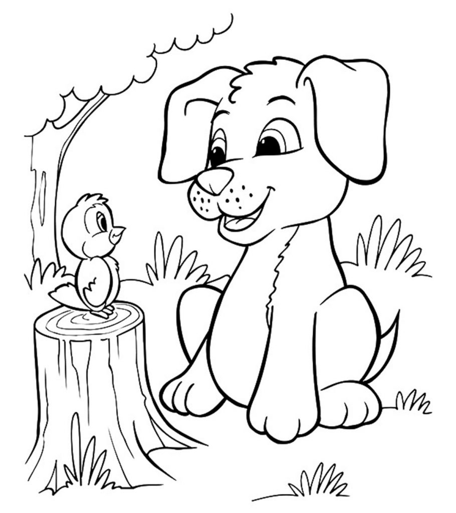 coloring in pages of dogs | Top 30 Free Printable Puppy Coloring Pages Online