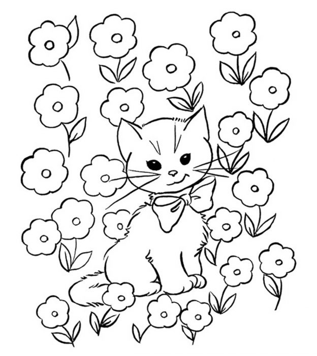 printable kitty cat coloring pages | Top 30 Free Printable Cat Coloring Pages For Kids