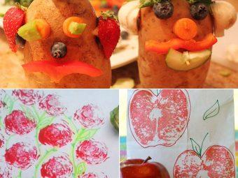 4 Interesting Fruits & Vegetables Craft Ideas For Kids