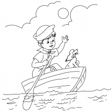 A Baby Sailor On Boat