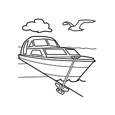 Resting Boat Printable Coloring Page
