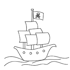 10 Best Boats And Ships Coloring Pages For Your Little Ones Pirate Ship Coloring Page