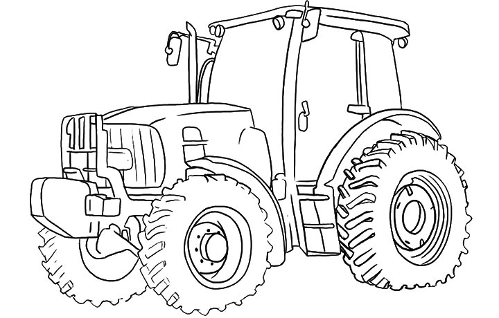 simple tractor coloring pages - photo#30