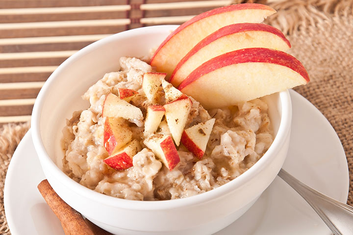 Apple And Sultana Baby Oatmeal