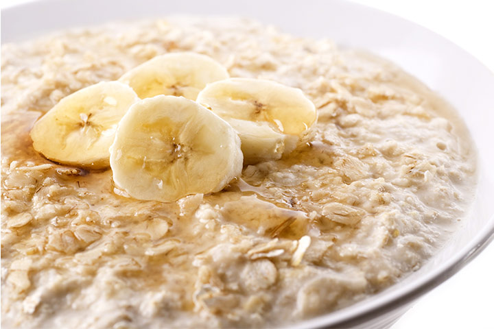 32 easy yummy oats recipes your baby will love to eat banana oats porridge for babies ccuart Choice Image