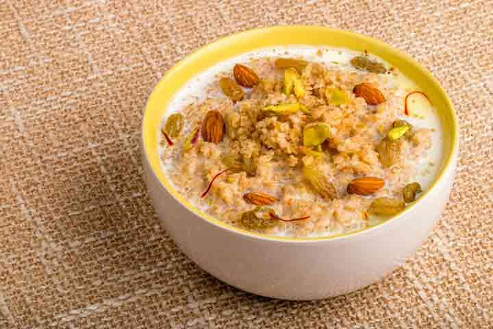 Broken wheat porridge (Dhaliya)