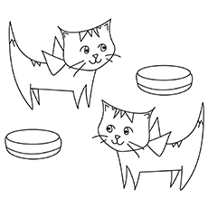 cats with bowls in front