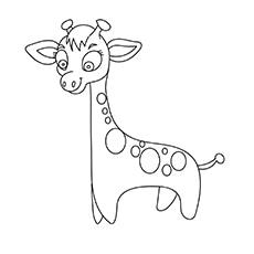 Cute Giraffe with Dots-16