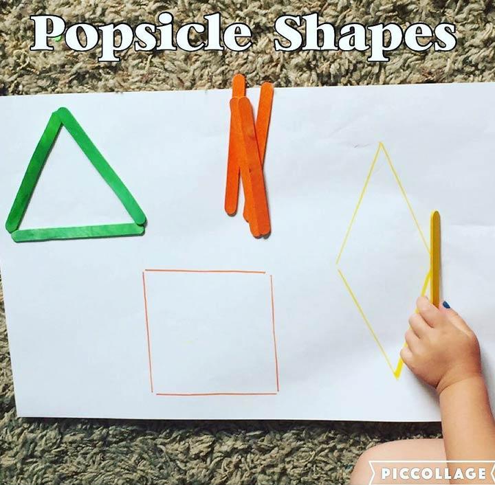 Ice cream stick shapes