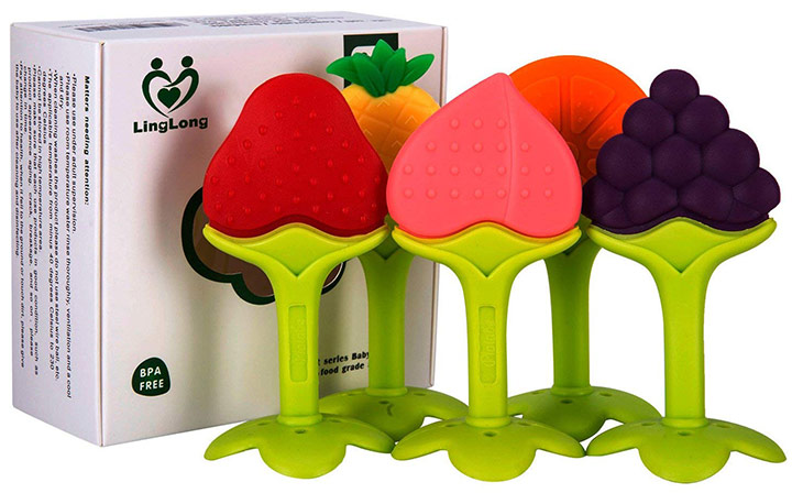 Linglong five pack teething toys set for baby