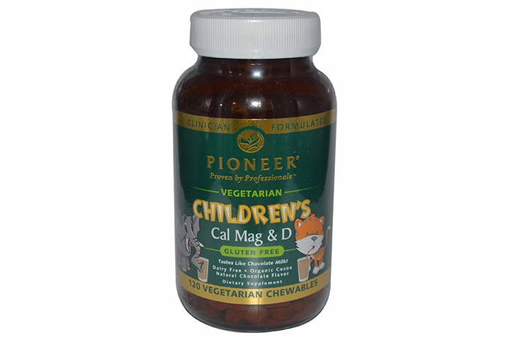 Pioneer Cal Mag & D Vegetarian Chewable Tablets for Children