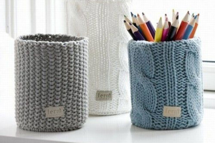 Recycled Wool Pencil Holders